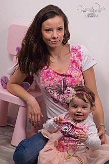 Tričká - som mama ♥ - mama a dcéra - 7816006_