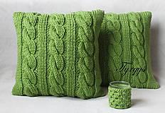 Úžitkový textil - Zelený vankúš - 7813405_