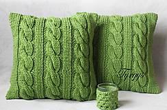 Úžitkový textil - Zelený vankúš - 7813409_