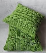 Úžitkový textil - Zelený vankúš - 7813411_