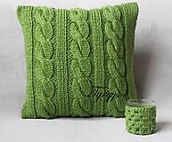 Úžitkový textil - Zelený vankúš - 7813412_
