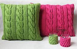 Úžitkový textil - Zelený vankúš - 7813417_