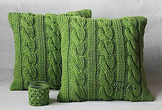 Úžitkový textil - Zelený vankúš - 7813406_