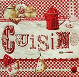 Papier - S924 - Servítky - káro, šálka, kuchyňa, hrnček - 7814472_