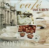 Papier - S925 - Servítky - café, coffee, time, káva - 7814684_