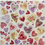 Papier - S926 - Servítky - srdce, srdiečko, láska, love - 7814692_