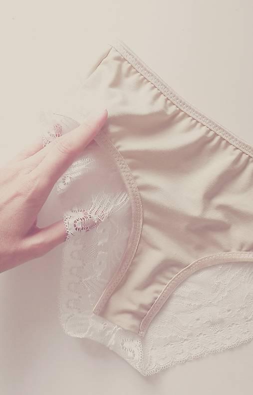 Nohavičky Siciliana beige/white