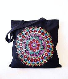 Nákupné tašky - Ekotaška-nákupka čierna hippie I. - 7812244_