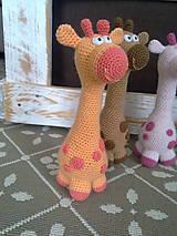 Hračky - Zirafka - oranzova - 7815207_