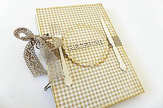 Papiernictvo - Receptár béžový - 7811668_