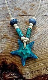 Náhrdelníky - náhrdelník Morská hviezdica + Koral - 7813144_