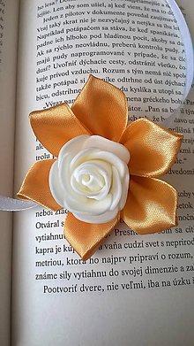 Pierka - Zlatá ruža náramok pre družičku - 7813389_