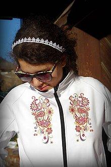 Kabáty - Softshellová bunda  ornament - 7814993_