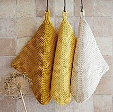 Úžitkový textil - Pletené chňapky - žlté - 7813817_