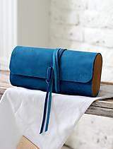 Kabelky - SALE -20% Listová kabelka MINI WIDE BLUE DENIM PC:80,-€ - 7812556_