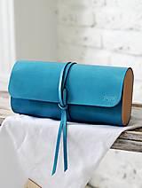 Kabelky - Listová kabelka MINI WIDE BLUE LAGUNA - 7812587_
