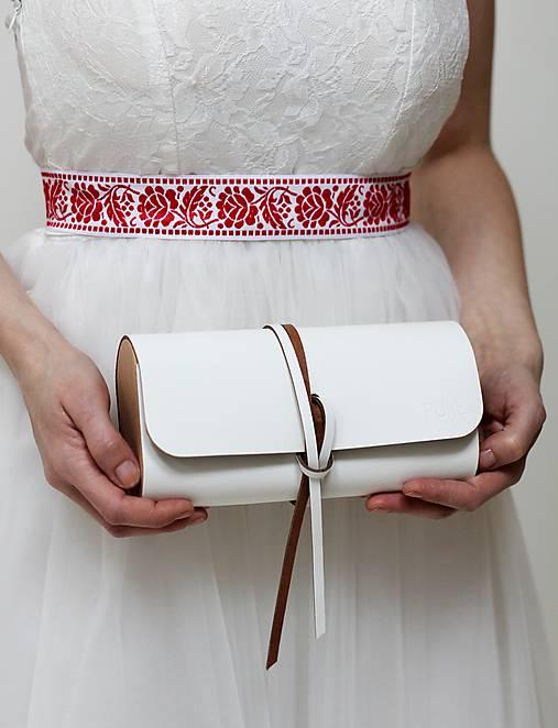 491ba820ab Listová kabelka WEDDING CLUTCH   PURE - SAShE.sk - Handmade Kabelky