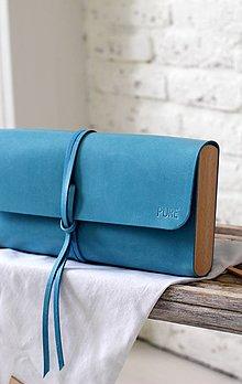 Kabelky - Listová kabelka MINI BLUE LAGUNA - 7812261_