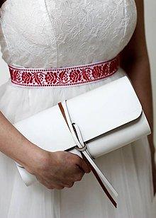 Kabelky - Listová kabelka MINI WIDE WEDDING - 7813278_