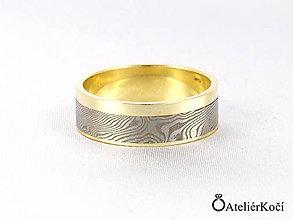 Prstene - Prsten Nefelé se zlatými proužky - 7811778_