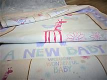 Textil - Personalizovaná deka pre dievčatko NEW BABY - 7815642_