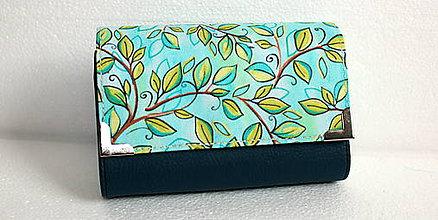 Peňaženky - Rozkvitnutá jar-peňaženka 3 v 1 - 7813866_