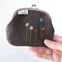 Peňaženky - Peňaženka Bodkokvietky na tmavej riflovine - 7812503_