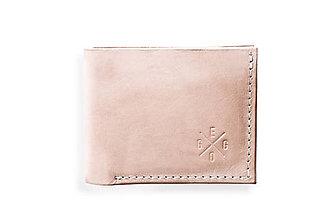 Peňaženky - Eggo peňaženka Rivers prírodná (nefarbená) - 7815203_