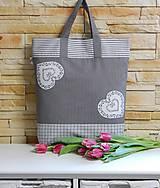 - Nákupná taška - so srdiečkami - 7814208_