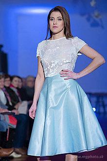 Sukne - Hodvábna sukňa s vanilkovými bodkami - 7815882_