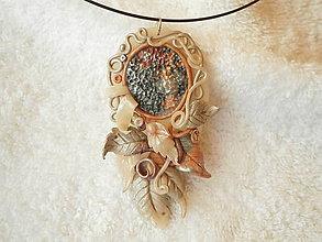 Náhrdelníky - Náhrdelník z polyméru, príroda - 7813856_