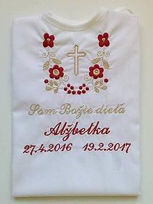 b75a58723 Detské oblečenie - Košieľka na krst K14 bordovo-zlatá s krížikom  (Prednostné odoslanie)