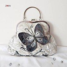 Kabelky - GRACE Butterfly Touch spoločenská kabelka - 7815357_