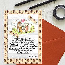 Grafika - Na kávičke (valentínka s textom)  (1) - 7815424_