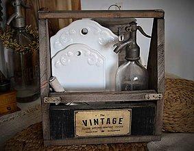 Nábytok - Vintage debnička obojstranná - 7813255_