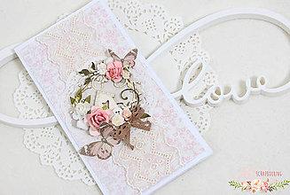 Papiernictvo - Scrapbooková pohľadnica veľká I - 7818993_