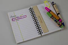 Nezaradené - Drevený zápisník formátu A5  - 7820388_