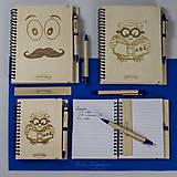 Nezaradené - Drevený zápisník formátu A5  - 7820389_