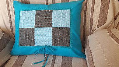Úžitkový textil - Dekoračné obliečky na vankúše/ tyrkysová - 7817553_
