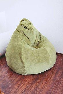 Nábytok - Sedací vak hruška zelený - 7818000_
