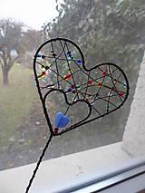 Dekorácie - srdiečko-zápich...láska je farebná - 7819406_