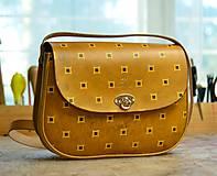 Kabelky - kabelka kožená PASPULA dekor No.5 - 7816357_