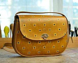 Kabelky - kabelka kožená PASPULA dekor No.5 - skladom - - 7816357_