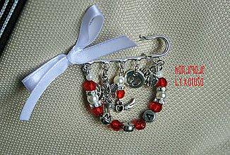 Odznaky/Brošne - brošňa ANJEL na kočík - 7818390_