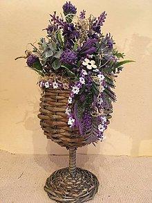 Dekorácie - Dekorácia čaša fialová - 7819136_