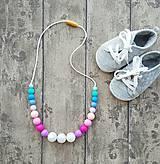 """- Silikónový náhrdelník na kojenie """"Yaro Spring Sunrise"""" - 7818692_"""