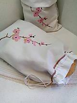 Ľanové vrecko z tradičného ručne tkaného plátna
