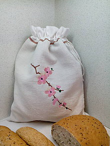 Úžitkový textil - Ľanové vrecúško z tradičného ručne tkaného  plátna - 7818944_