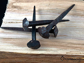 Iné - Kované hřebíky (klince) - 6,5 cm - 7820120_