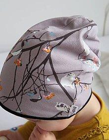 Detské čiapky - čiapka Na konároch - 7818401_